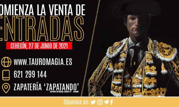 A la venta las entradas para la corrida de toros del día 27 de junio en Cehegín