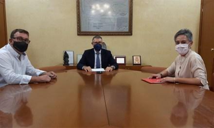La Alcaldesa de Calasparra se reúne con el Presidente de la Confederación Hidrográfica del Segura y la Comunidad de Regantes de la Acequia Esparragal de Abajo