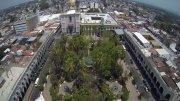 Vista aérea del centro de Colima | Foto: Especial