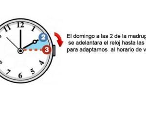 adelantar hora