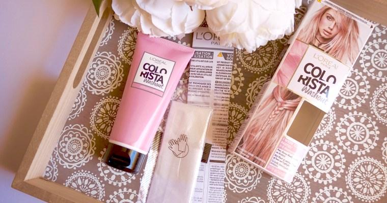 Cheveux Roses avec Colorista L'Oréal !