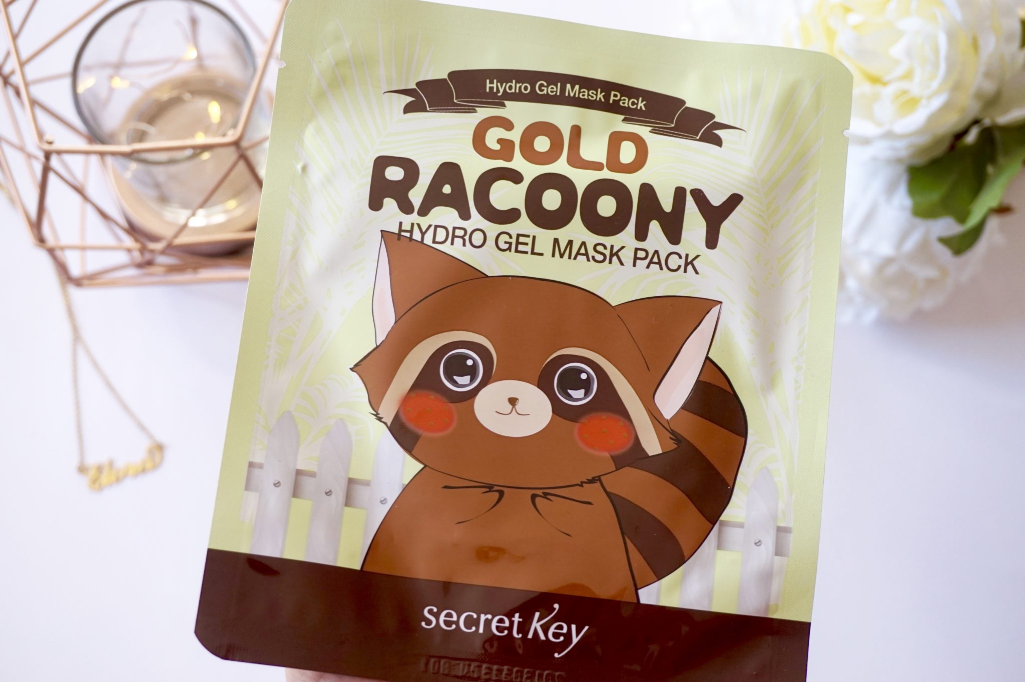 Masque coréen hydratant Gold Racoony par Secret Key