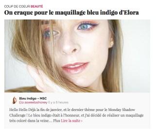 Maquillage Bleu Indigo