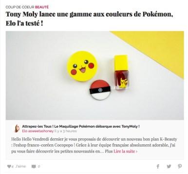 Tony Moly x Pokémon