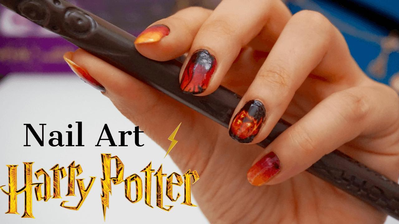 Nail art Harry Potter Halloween 2019