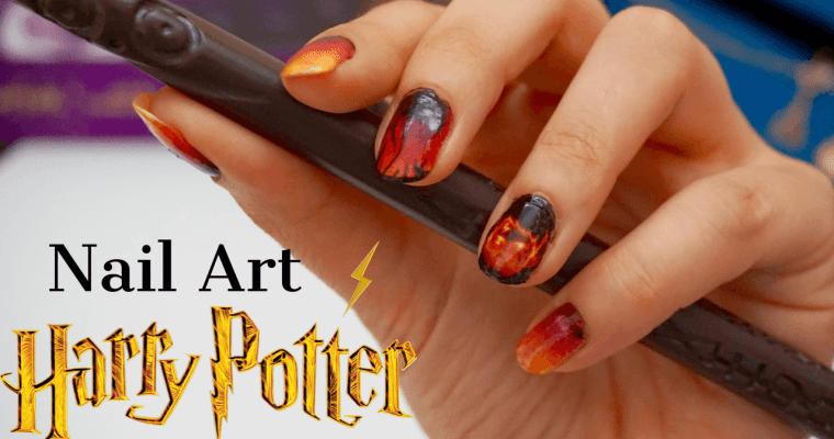 Nail art Harry Potter Halloween 2019