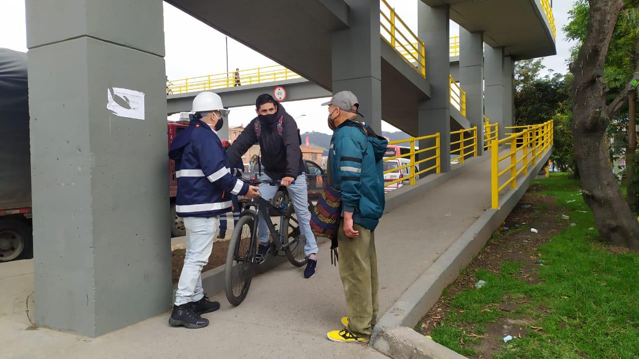 Cajicá: Inician campaña de educación vial en peatonal de Granjitas