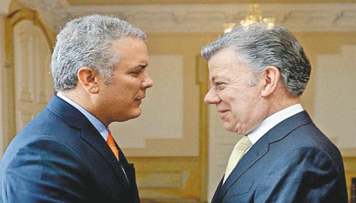 """Duque, ´pare bolas´. """"Estoy a disposición suya para salir de esta crisis""""´:  Santos."""