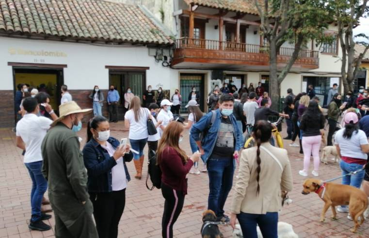 En Chía realizaron plantón para exigir #JusticiaParaDante