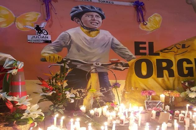 En custodia conductor involucrado en muerte del ciclista Julián Esteban +Videos