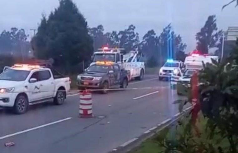 Bici usuario perdió la vida en accidente en la variante sector La Paz de Zipaquirá