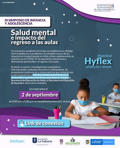 II Simposio de Infancia y Adolescencia: Salud mental e impacto del regreso a las aulas