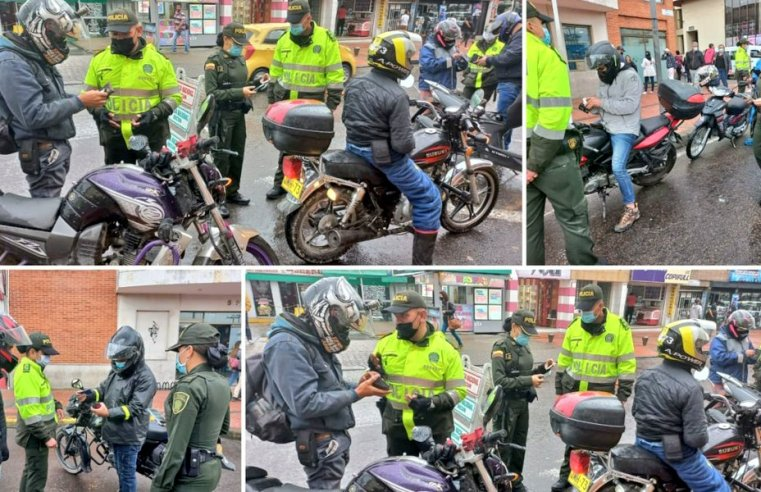 Zipaquirá y Sopó: Policía realizó  verificación de la propiedad de los automotores