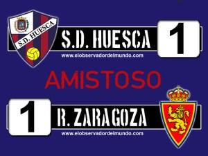S.D. Huesca 1 - 1 real zaragoza (amistoso)