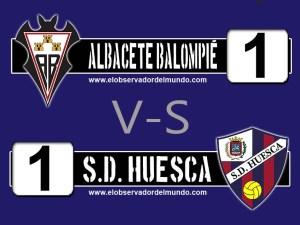 Marcador del Albacete balompié - S.D. Huesca