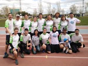 El equipo oscense de ultimate frisbee BolskanDisc LaManoDelDiez que participó en el Torneo Internacional de la Abuela / Foto: Bolskandisc Ultimate Huesca