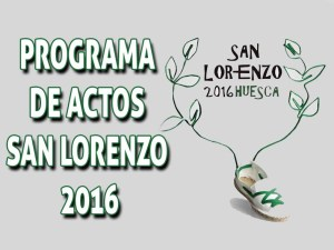 SAN LORENZO 2016 PROGRAMA DE ACTOS