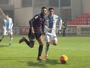 César en el partido jugado esta temporada en el Alcoraz / Foto: C.Pascual