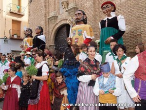 Los gigantes en la puerta de San lorenzo / Foto: C.Pascual
