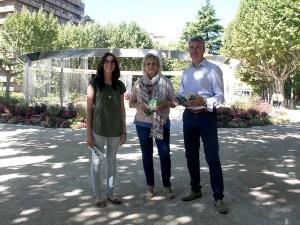 Patricia Salas, Carmen García y Francisco Bergua / Foto: Ayto. de Huesca