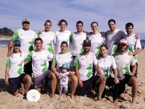 Equipo mixto de BolskanDisc LaManoDelDiez que participó en Santander / Foto: Bolskandisc Ultimate Huesca