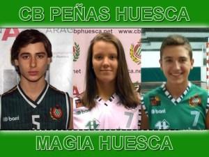 María Inglada, Álex Vigil y Álex Fernández