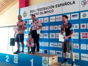 Sánchez Pardo subcampeón de España en el podio / Foto: CT Loreto