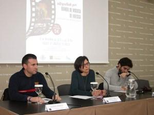 Daniel Muñoz, Teresa Sas y Alejandro Escuer en el acto de presentación / Foto: Ayto. de Huesca