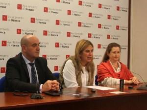 Yolanda de Miguel, María Jesús Torreblanca y Roberto Cerdán / Foto: Ayto. de Huesca