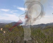 Sin poder sofocar incendio forestal en Tequisquiapan