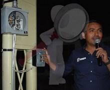 Inaugura Amarildo Bárcenas red eléctrica en Lomas Bonita