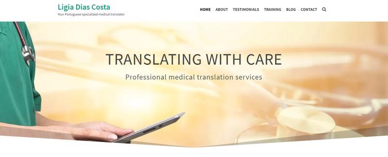 Website portuguesemedicaltranslator.com