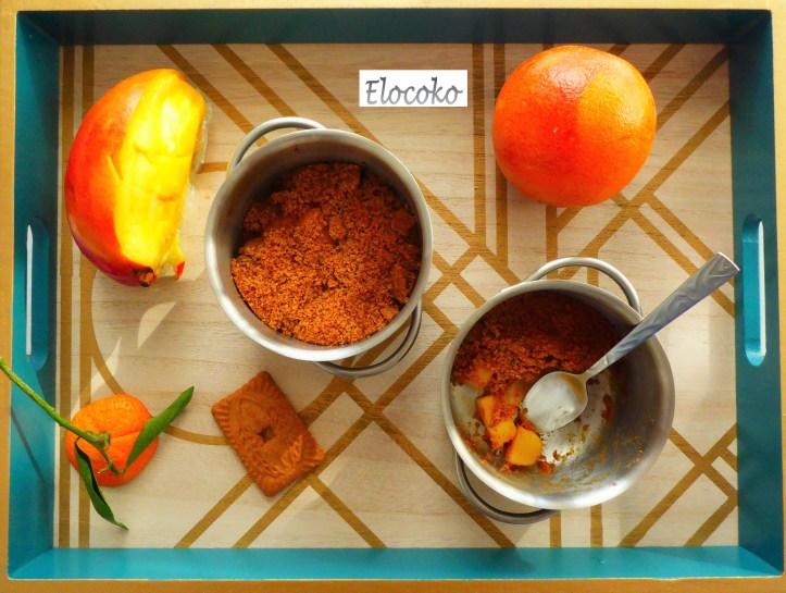 Crumble d'hiver : orange, mangue et speculoos