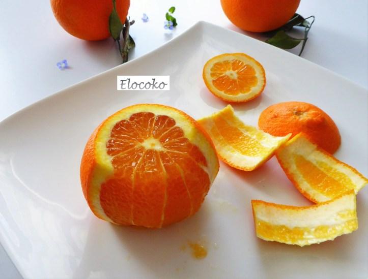 Suprêmes d'agrumes étape 3 : enlever la peau sur les côtés