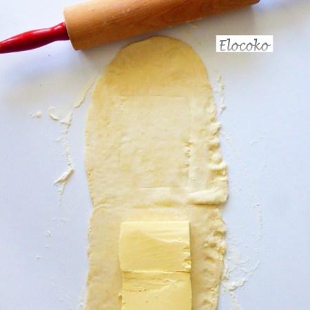 pâte feuilletée 5-ajout du beurre