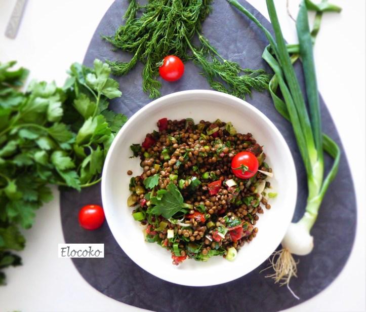 salade de lentilles à la grecque