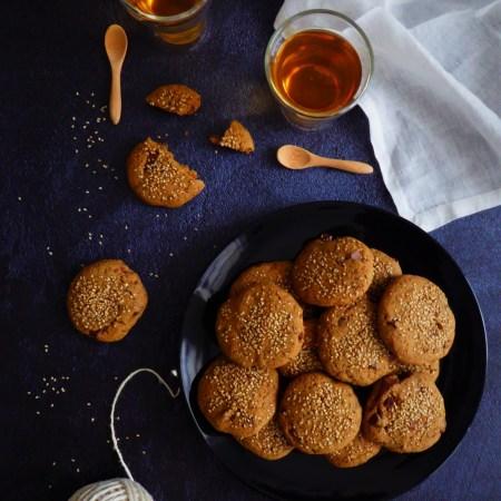 cookies moelleux chocolat sésame