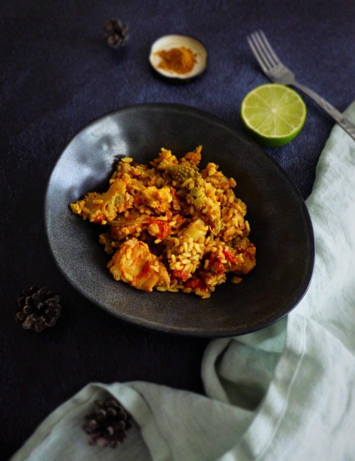 one pot curry de cabillaud et riz