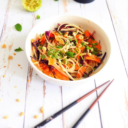 rouleaux de printemps destructurés façon salade asiatique