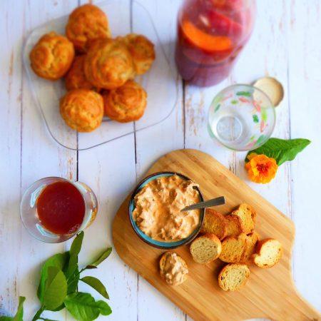 tartinade crémeuse au poivron pour l'apéritif