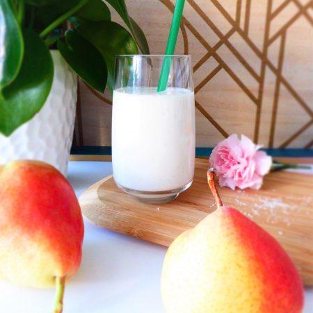 smoothie poire vanille coco