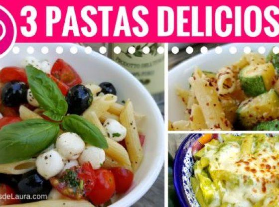 3 recetas sanas con pasta