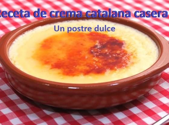 receta crema catalana casera