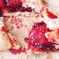 Tartes rustiques aux fraises