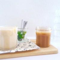 Glace au lait concentré vanillé et caramel au beurre salé