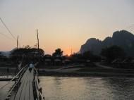 un coucher de soleil de plus sur le Mékong