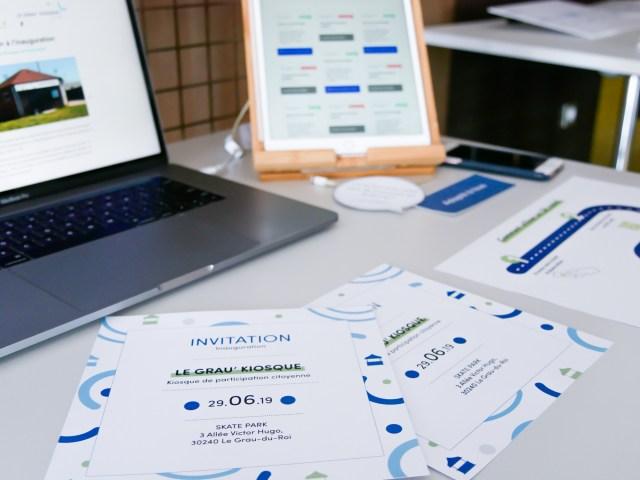 Carton d'invitation et Prototype de la borne