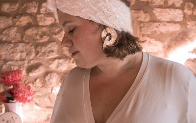 Bandeau Simone d'Atelier Emilie, l'accessoire tricot de l'hiver