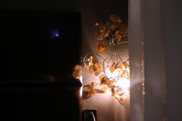 lampadaire fleurs