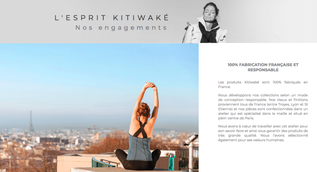 kitiwaké vêtements yoga running et pilates bio